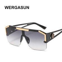 Wergasun 2020 брендовые Дизайнерские Большие Квадратные Солнцезащитные