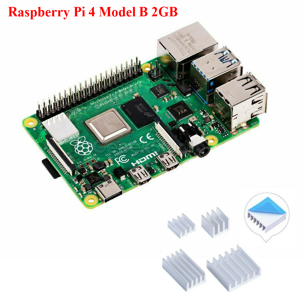 Raspberry Pi 4 Model B 2GB Ram 1.5GHz 64-bit quad-core Latest