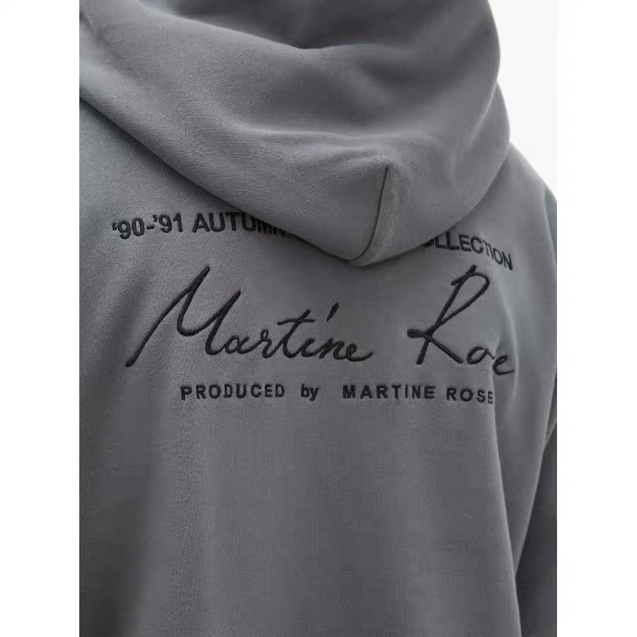 New Martine Rose Letter Embroidery Hoodie oversized1:1 High Quality Loose fit HipHop Martine Rose Sweatshirts women men hoodies