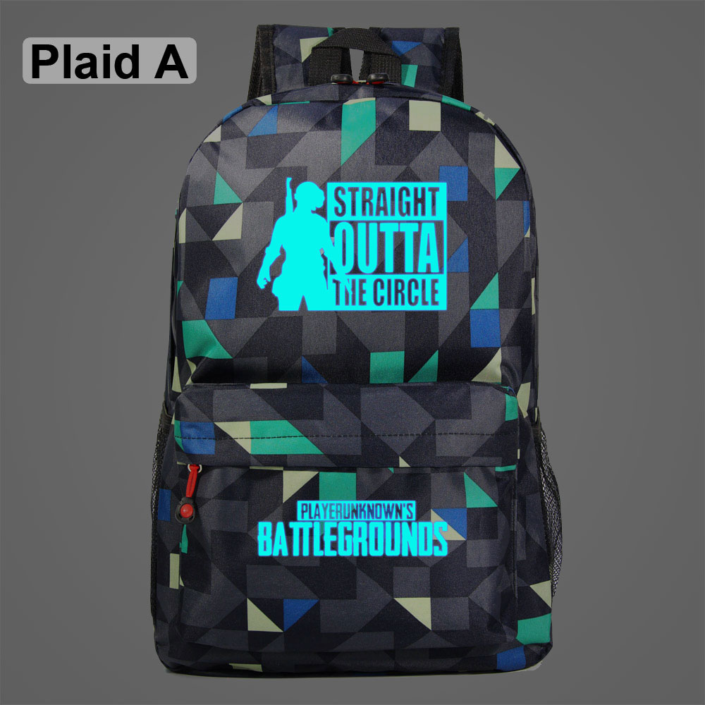 2019 Luminous Game PUBG Winner Chicken Dinner Galaxy Plaid Children School Bag Teenagers Student Schoolbags Women Men Backpack