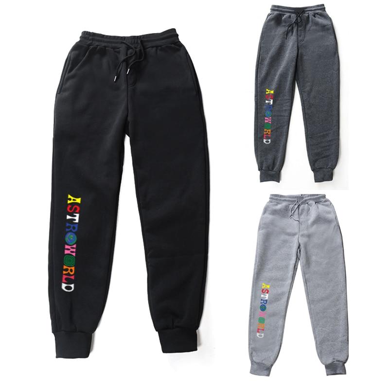 New Travis Scott ASTROWORLD Pants Women Men High Quality Printing Joggers Streetwear Men Joggers Sweatpants Trousers