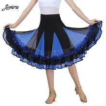 Nowa spódnica do tańca towarzyskiego kobieta suknie na konkurs tańca towarzyskiego nowoczesna standardowa wydajność Waltz Salsa Rumba kostiumy do tańca