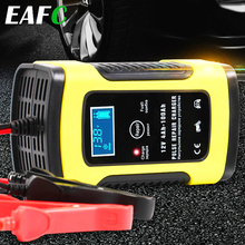 Motorcycle Car Battery Chargers 110V to 220V To 12V 6A Intelligent Automatic Fast Power Charging Wet Dry Lead Acid LCD Display