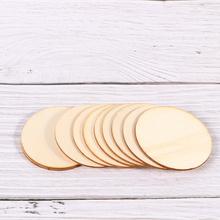 100 sztuk 5cm średnica DIY drewno okrągłe kawałek płyty edukacyjne zabawki artykuły szkolne uczniowie matematyka nauczanie rekwizyty dla chłopców G tanie tanio CN (pochodzenie) Wood Piece Round Round Wood Disc 5mm Wood Disc Wood Piece Decor DIY Round Wood Disc
