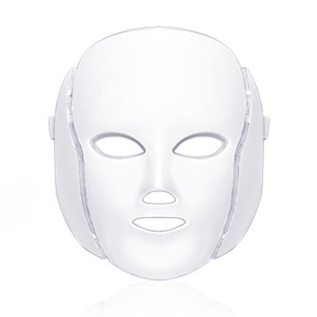 7 Colors LED Facial Mask Spectrometer Led Therapy Mask Light Therapy Acne Neck Face Mask Korean Skin Care OPP Bag Pack 1