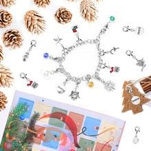 Calendar Jewelry-Making-Kit Bracelet Necklace Gifts DIY Kids Charm for Children Advent