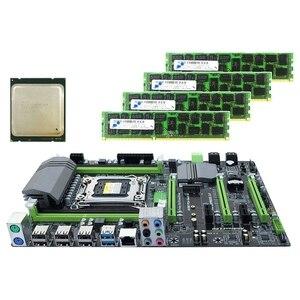 X79 материнская плата LGA2011 Combo с процессором E5 2650 4-канальный 16 Гб (4X4 Гб) DDR3 ram 1333 МГц NVME M.2 SSD слот