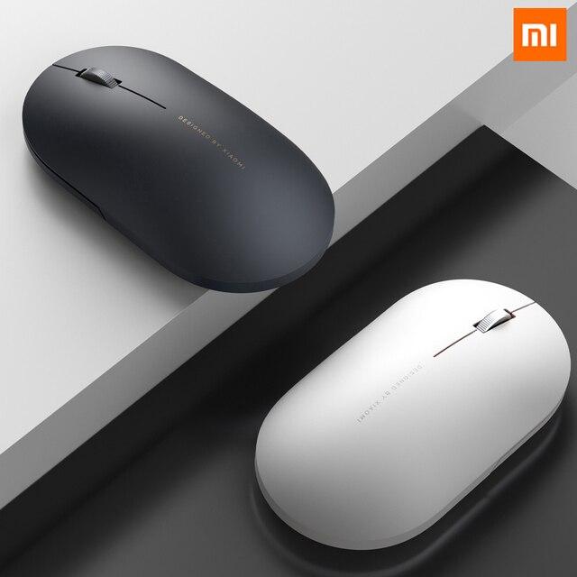 Xiaomi Wireless Mouse 2 originale 1000DPI 2.4GHz WiFi Link ottico muto luce portatile Mini Laptop Notebook Mouse da gioco per ufficio