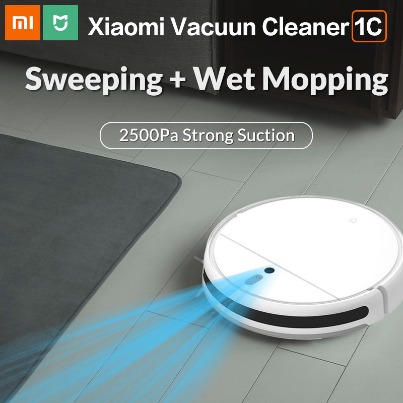 Xiaomi Mi Robot Vacuum Cleaner 1C for Home Smart Wireless Sweeping Cleaning Electric Mop MIJIA Carpet Dust Robotic Collector(China)