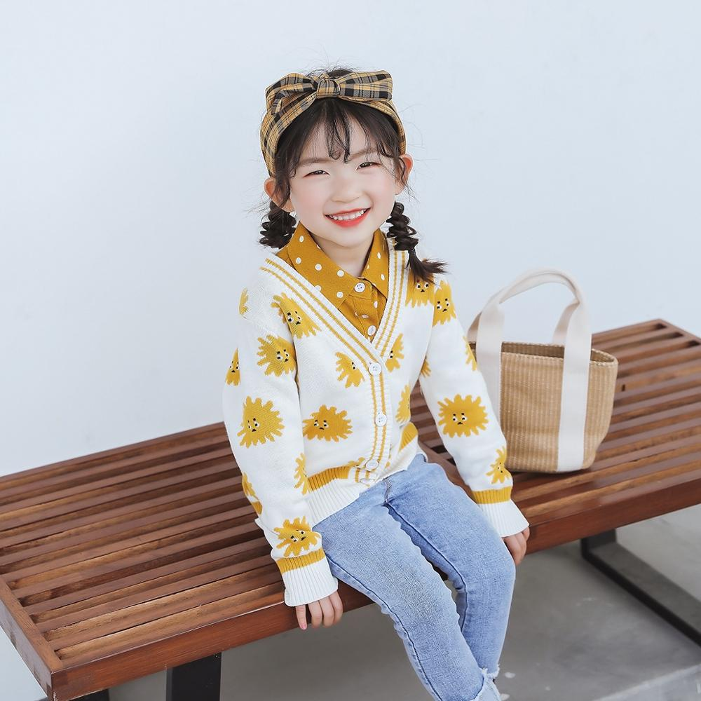 2020 New Knitted T-shirt Children Clothing Cotton Infant Kids Sweaters Baby Girls Boys Sweaters Parent-child Look Colthes 4-6-8