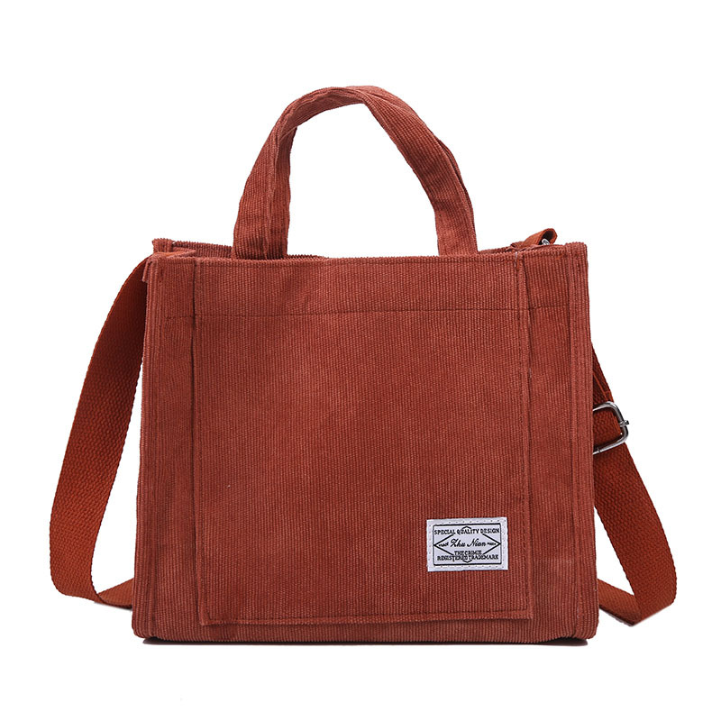 Luxury Designer Handbag Corduroy Ladies Bag 2021 New Trend Single Shoulder Bag Solid Color Buckle Messenger Bag Small Square Bag