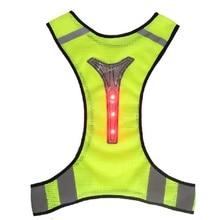 Motorcycle Jacket Reflective Vest LED light Safety High Visibility Chaleco Reflectante Moto Riding Motorsiklet Yelek