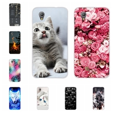 For Alcatel 1 2019 Case Ultra-slim Soft TPU Silicone Cover Cute Cat Patterned Shell Coque