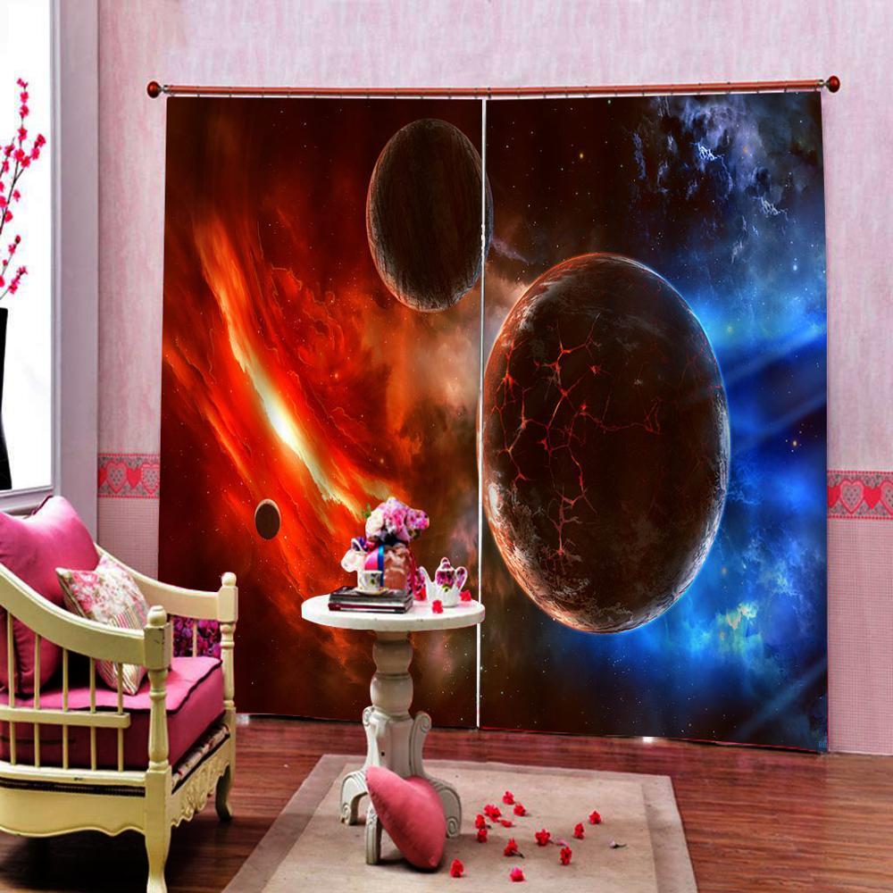 Photo personnalisée décor de l'espace extérieur comète approches planète faits scientifiques réalités dans le système solaire scène mondiale rouge bleu