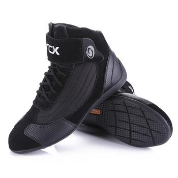 Jazda motocyklem oddychające buty ochrona Moto motocykl Biker Touring boty buty dla mężczyzn i kobiet letnie Motobotinki tanie i dobre opinie CN (pochodzenie) Skórzane ANKLE Unisex