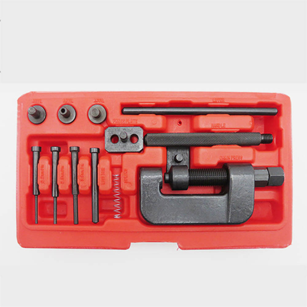 Bicycle Chain Breaker Rivet Cutter Repair Tool Kit For Bike Motorcycle Cam Drive Timing Chain Remover With Carrying Case