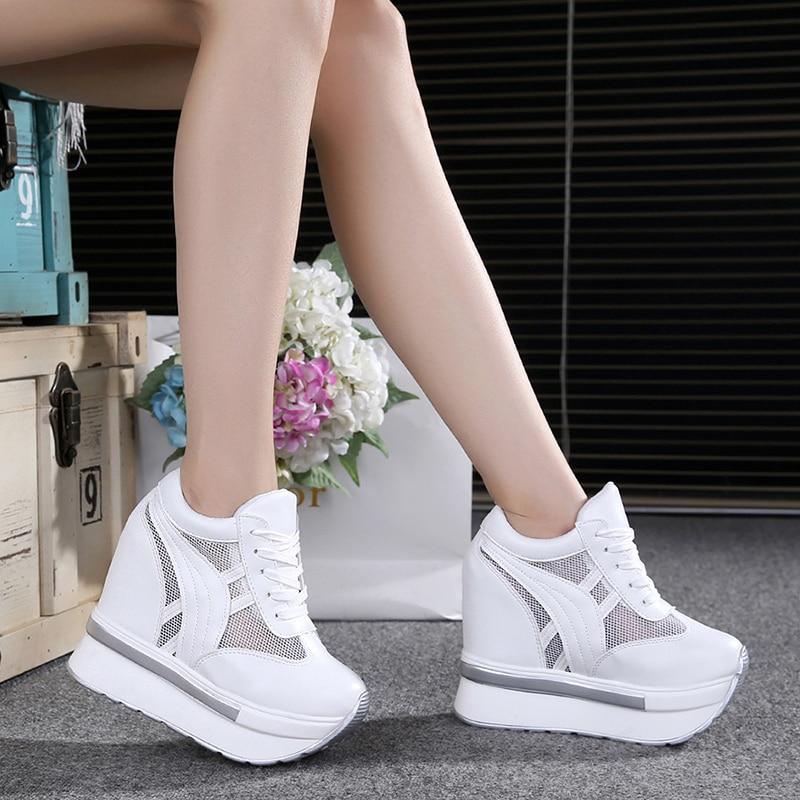 Ladies Wedge Sneakers High Top Casual Shoes Women Platform Sneakers Women Shoes Trainers Women Footwear Heels Zapatillas Mujer
