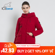 ICEbear Chaqueta con capucha de Invierno para mujer, chaqueta femenina de moda, Parkas cálidas para invierno, Ropa de talla grande, GWD19078I, 2019
