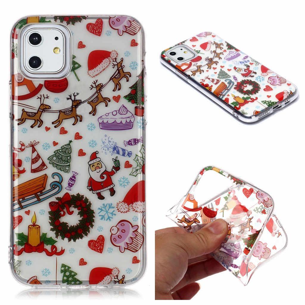 החג שמח צבעוני מודפס TPU מקרה עבור iPhone 11 6.1in זרוק עמיד טלפון מקרה מגן כיסוי חבילה כולל # E25