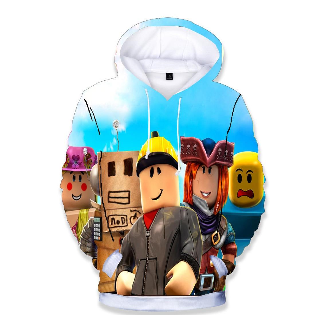 Толстовка Robloxing, свитшоты, джоггеры, джемперы, детские пуловеры с 3D принтом, уличная одежда с кулиской, куртки с капюшоном для мальчиков с мул...