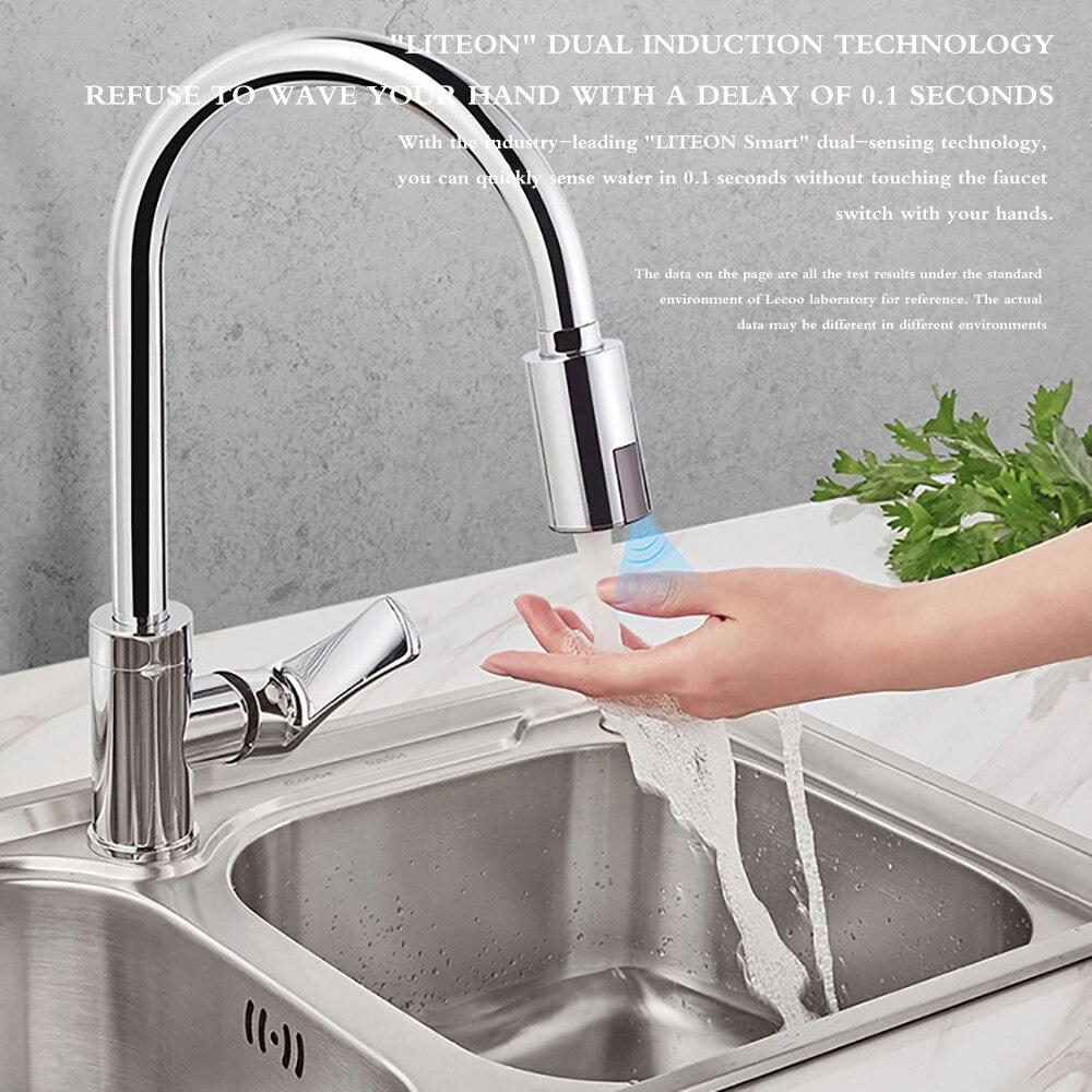 H226132d169d54d2497b8e29b8b55c3f8D Smart Sensor Kitchen Faucets Water-Saving Sensor Non-Contact Faucet Infrared Sensor Adapter For Kitchen Bathroom sensor Faucet