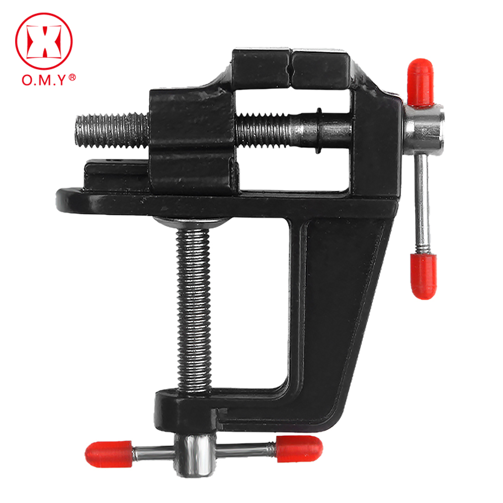 OMY Hot 1PC High Quality New Aluminum Small Jewelers Hobby Clamp On Table Bench Vise Mini Tool Vice(China)
