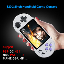 Pocketgo S30 Retro Game Console 3.5 inch IPS Screen Handheld Game Player Built-In 128GB 10000 Games Pocket Video Players