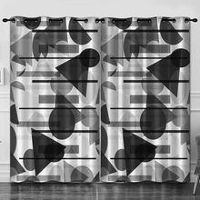 Красочные геометрические украшения для комнаты занавески фоновые