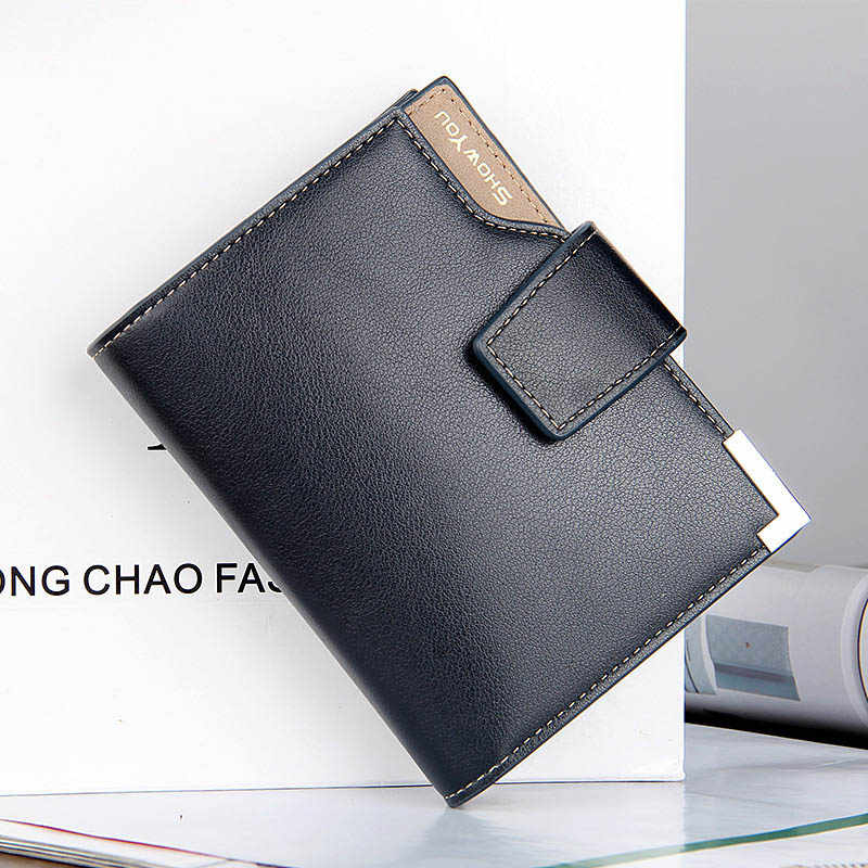 2019 New Multifunction Short Hasp Vertical Small Card Holders Men's Business Wallet Credit Coin Purse Clutch Wallets For Man