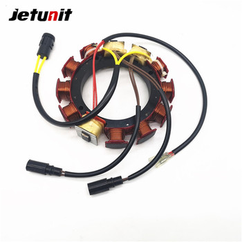 JETUNIT Outboard Parts Stator Assy Generator Magneto 6/8 Cyl 35Amp For Johnson Evinrude 185-300HP 584643 763779 173-4643 jetunit 100%premium outboard 9 amp stator assy for mercury 60 85hp 9 amp 2 3