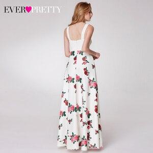 Image 2 - Elegnat Floral Printed Homecoming Dresses Ever Pretty Sleeveless A Line V Neck Simple Beach Style Graduation Dresses Vestidos