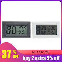Humidity Sensor Backlight LCD Temperature Instruments Thermostat Outdoor Weather Station Digital Thermometer No Battery(China)