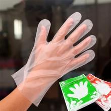 100 шт./упак. пластиковые перчатки одноразовые перчатки для ресторана кухни Барбекю Экологически чистые перчатки для еды фрукты овощи перчатки