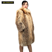Real fur coat Winter fox fur coat woman