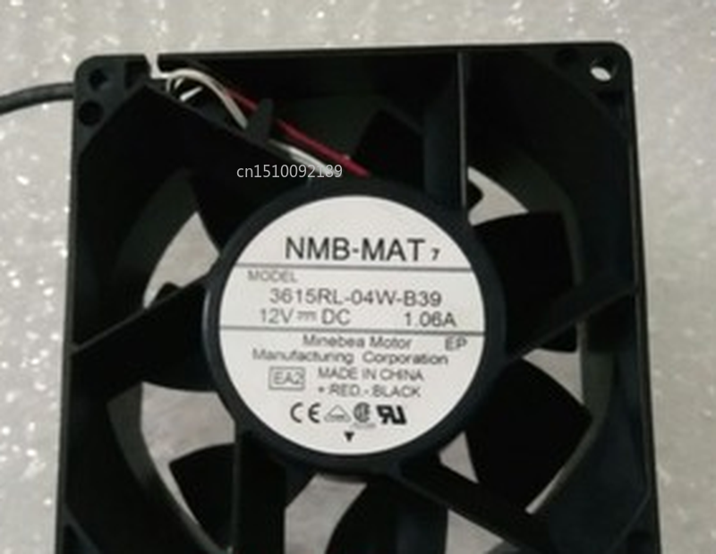 Free Shipping 3615RL-04W-B39 12V 1.06A Original For NMB-MAT NMB 92*92*38MM 3 Wire Cooling Fan