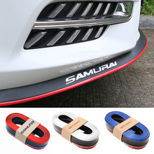 2.5M Front Car Bumper Protector Rubber Guards Lip Mouldings Splitter Chin Body Auto Exterior