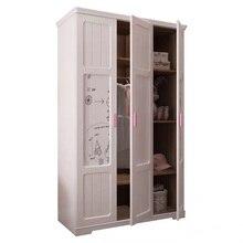 Storage-Cabinet Wardrobe Suite-Furniture Bedroom Wood Locker Saving-Space Children's