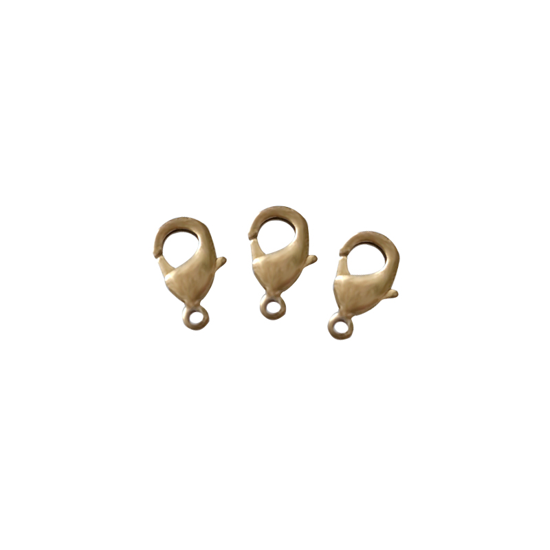 10x Metal Brass Lobster Claw Clasps Snap Hook For Leather Craft Bag Key Ring Jewelry Finding