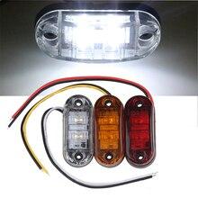 10 PC 24/12 V LED Side MARKER ไฟกระพริบสำหรับรถบรรทุกรถพ่วง Piranha Caravan Side Clearance MARKER LIGHT amber สีแดงสีขาว