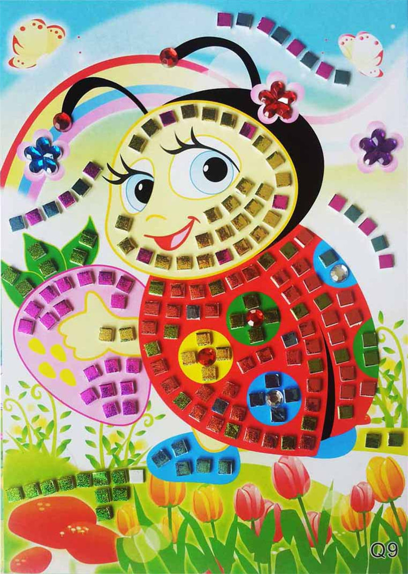 3D Mosaics Art Princess Set#1 Collection Sticker Game Craft for kids 5 -Toybies