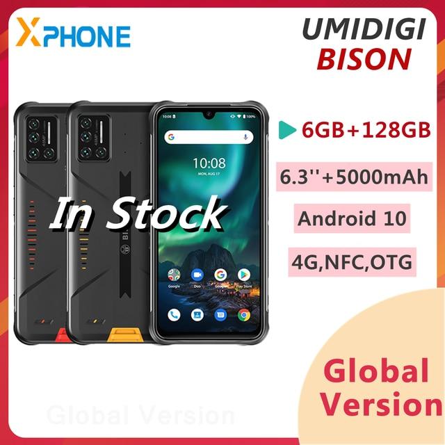 UMIDIGI Bò Rừng 6GB 128GB Chắc Chắn Điện Thoại 48MP Quad Camera Sau 5000MAh 6.3 Inch Android 10.0 4G mạng Điện Thoại Thông Minh NFC