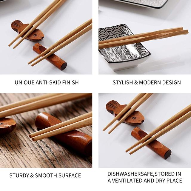 Vancasso Haruka Japanese Chopsticks Gift Set Natural Bamboo 8 Pairs Reusable Chopstick for Sushi,Noodle,Rice,Ramen with Gift Box 4