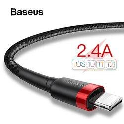 Baseus USB кабель для iPhone 11 XR Xs Max 2.4A кабель для быстрой зарядки 3M USB кабель для зарядки данных для iPhone X 8 7 Plus провод для зарядки