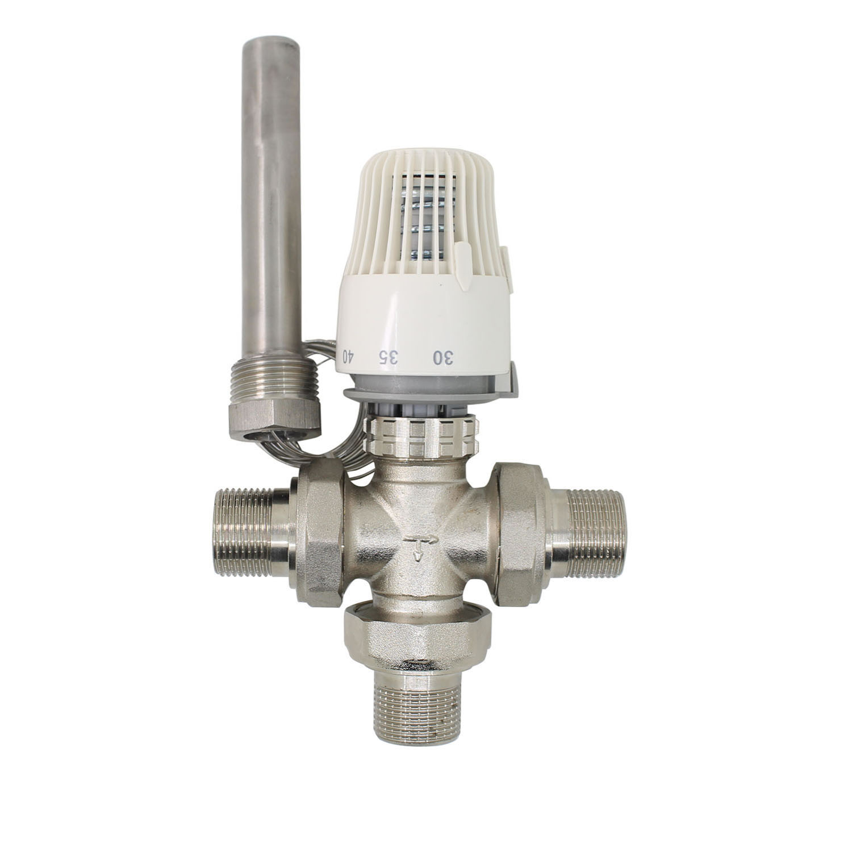 30-70 Degree Control Floor Heating System Thermostatic Radiator Valve M30*1.5 Remote Controller Three Way Valve DN20 DN25 DN32