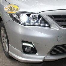 SNCN 2PCS luce di marcia diurna a LED per Toyota Corolla 2011 2012 2013 accessori auto impermeabile ABS 12V DRL fendinebbia decorazione