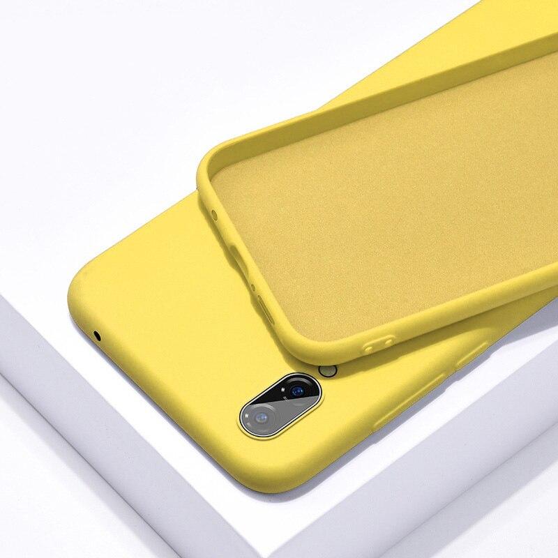 Однотонный силиконовый чехол для huawei P20 Lite P Smart P30 Pro mate 20, чехол для Honor 8X Nova 3i 9 Lite 10 20 Pro Y5 Y9 - Цвет: Yellow