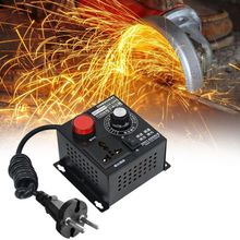 SCR Electronic Voltage Regulator AC 220V 4000W Temperature Motor Fan Speed Controller Dimmer Adjustable Electric Tool ac 220v 4000w high power scr speed controller electronic voltage regulator governor l15