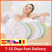 10/20/30PCS Disposable Shower Caps Hat Clear Spa Hair Salon Hotel One-Off Bathing Elastic Shower Cap Bathroom Products Bath Caps