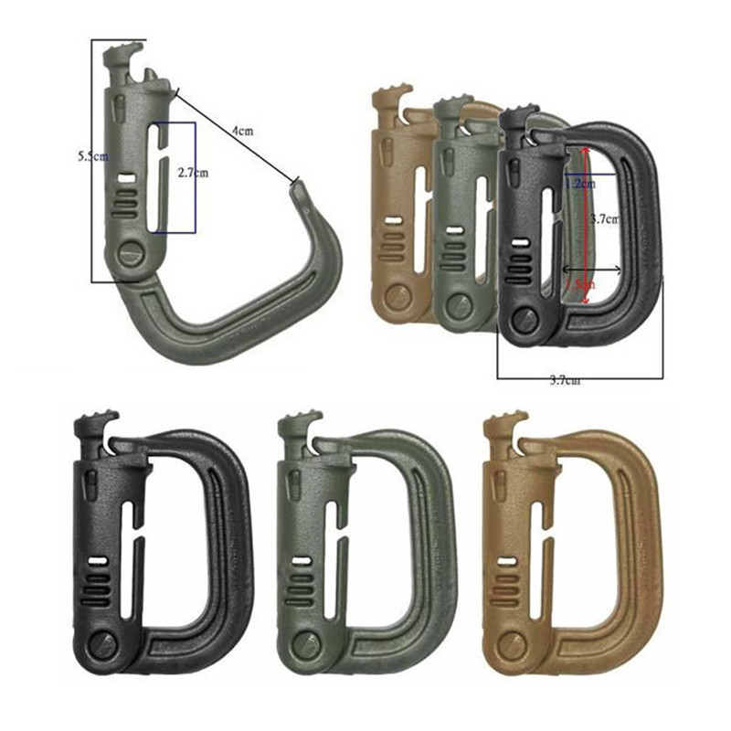 Outdoor D-Ring Hanging Buckle Mountaineering Safety Buckle Clip Buckle Lock Mountaineering Safety Outdoor Accessories