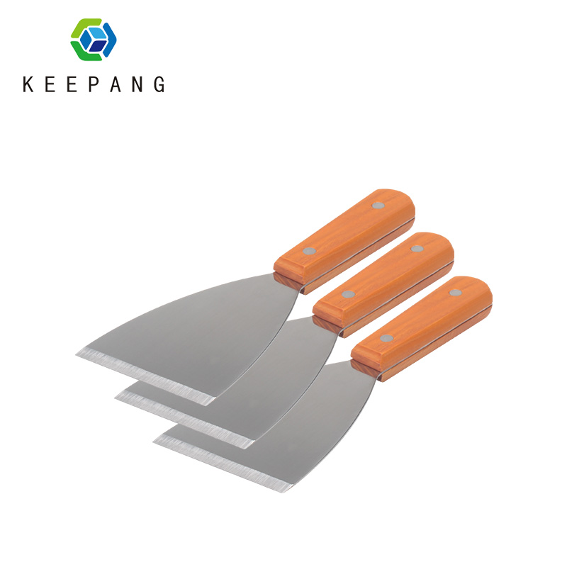 KeePang Multifunction Removal Tool Stainless Steel Spatula Wooden Handle Metal Scraper For 3D Printer Heated Bed Platforms